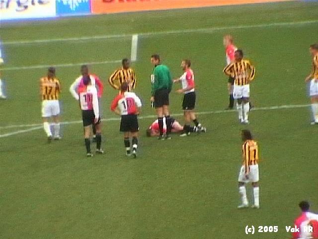 Feyenoord - Vitesse 1-2 23-01-2005 (19).JPG