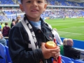 Thomas in the Madejski Stadium, Reading